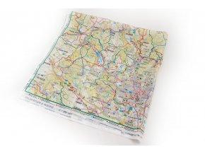 Mapa na šátku